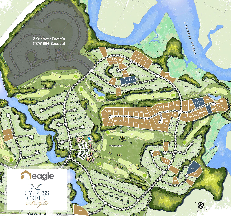 Smithfield, VA Cypress Creek New Homes from Eagle Construction