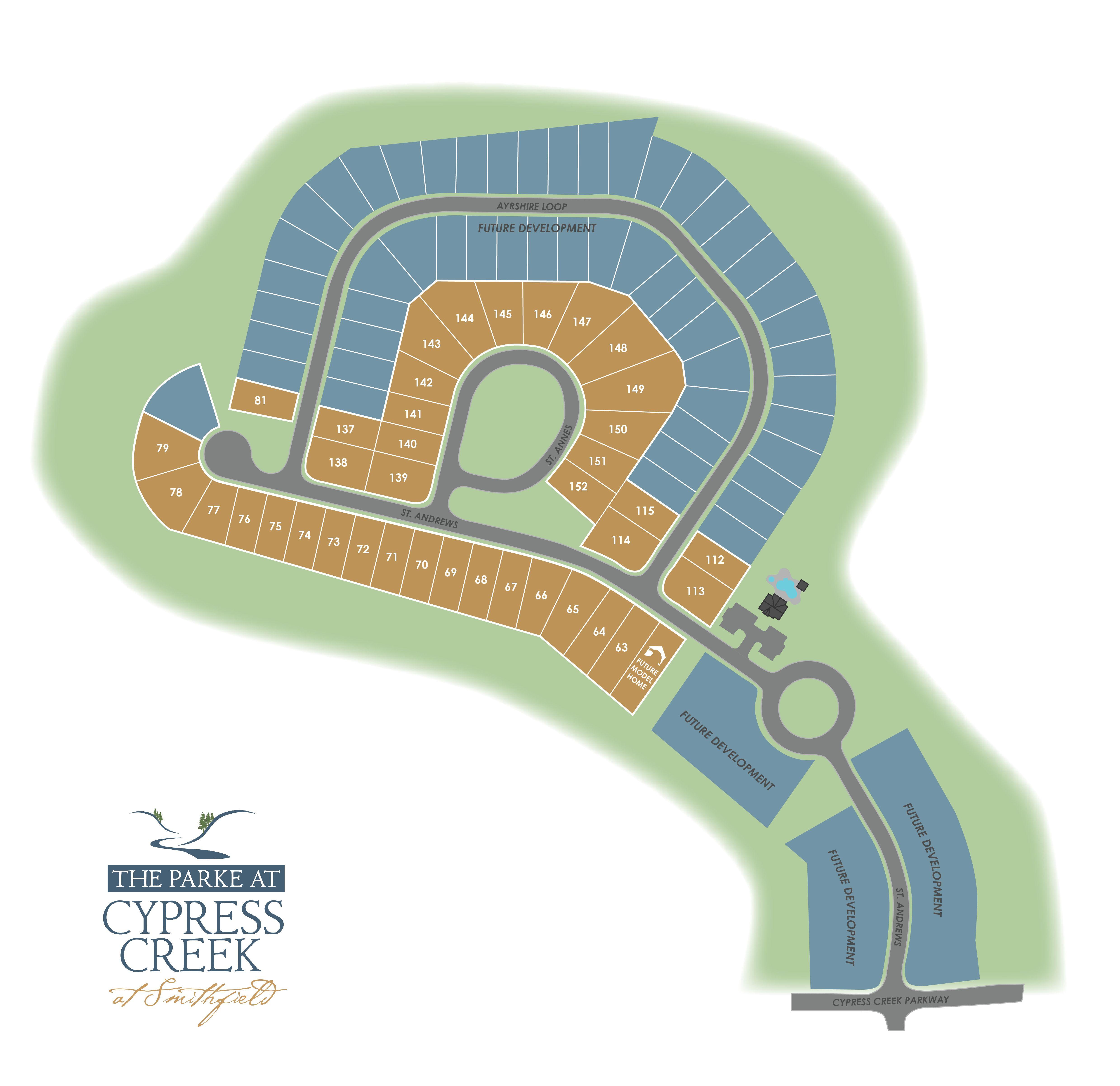Smithfield, VA The Parke at Cypress Creek New Homes from Eagle Construction